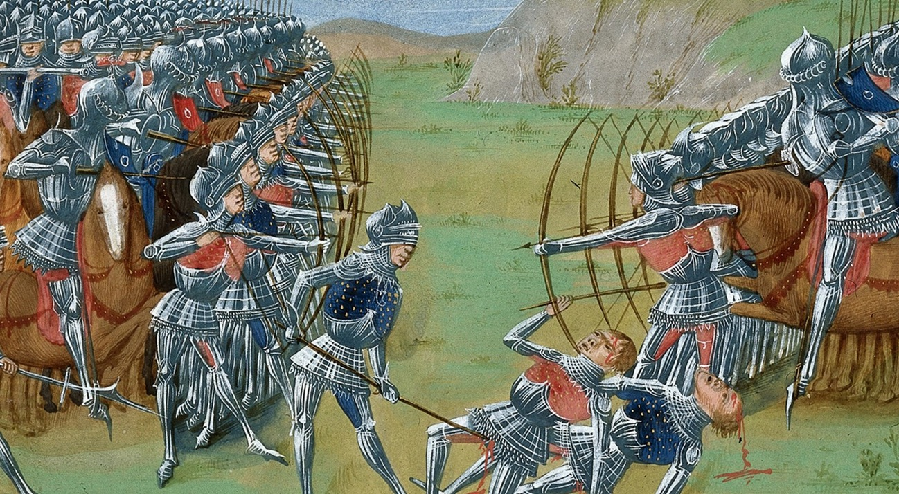 the 100 years war the english Far from home and at constant threat of attack, the armies of the hundred years war between england and france were reliant on supply lines to keep them.